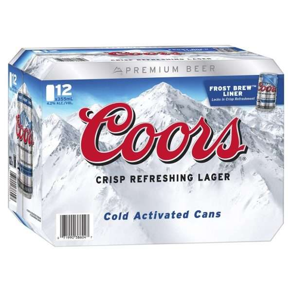Coors 355mL 12pk Cans